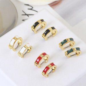 Tory Burch Enamel Earrings